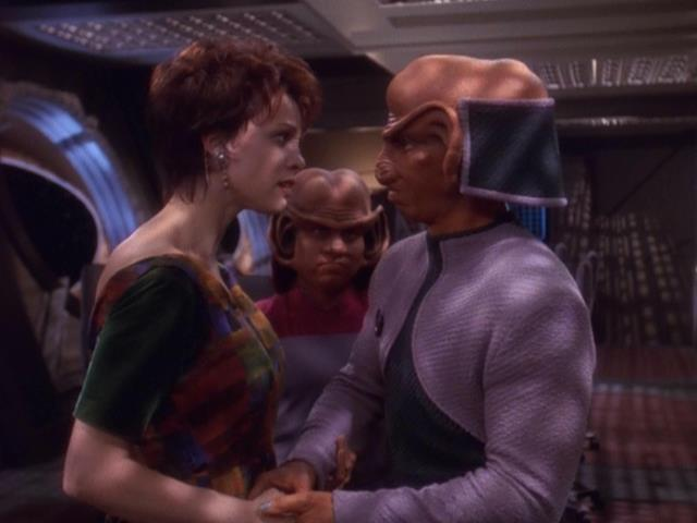 Image result for ds9 rom and leeta